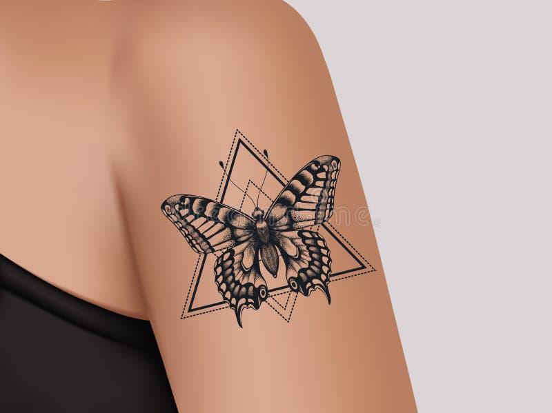 Tatuaż Na Ramieniu Serce Z Kwiatami I Faborkiem Miłość