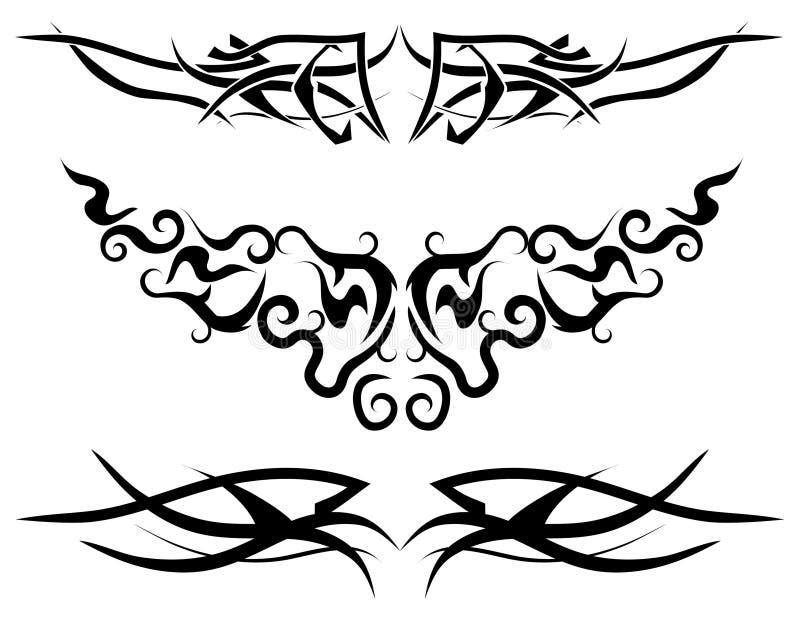 tatuaż, płomień royalty ilustracja