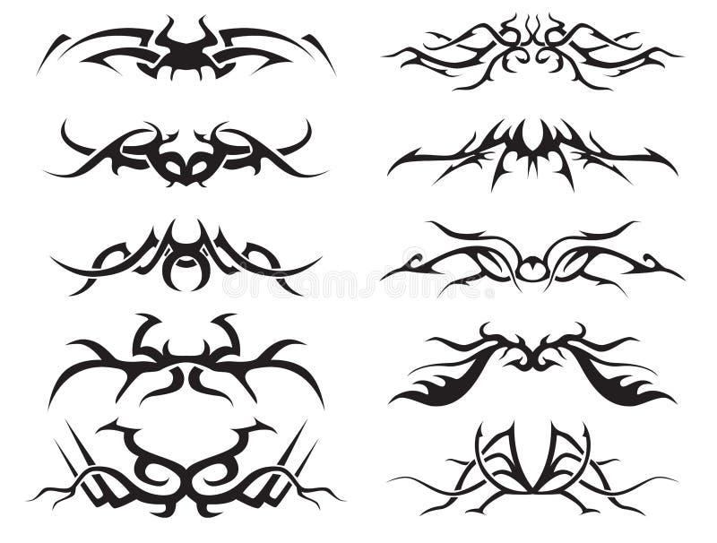 tatuaż pack2 plemienny ilustracji