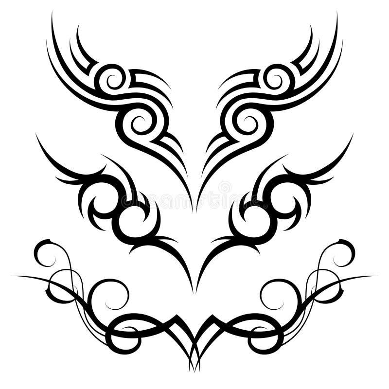 tatuaż plemienny royalty ilustracja