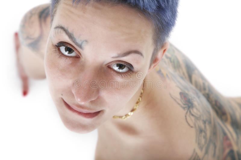 tatuaż seksowna kobieta zdjęcie stock