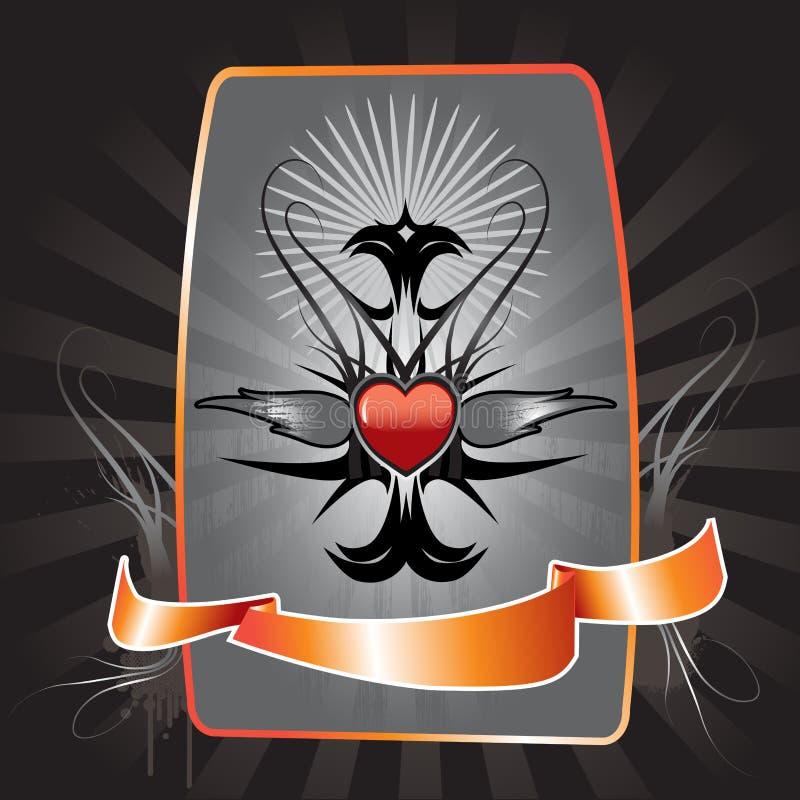tatuaż serca projektu ilustracja wektor