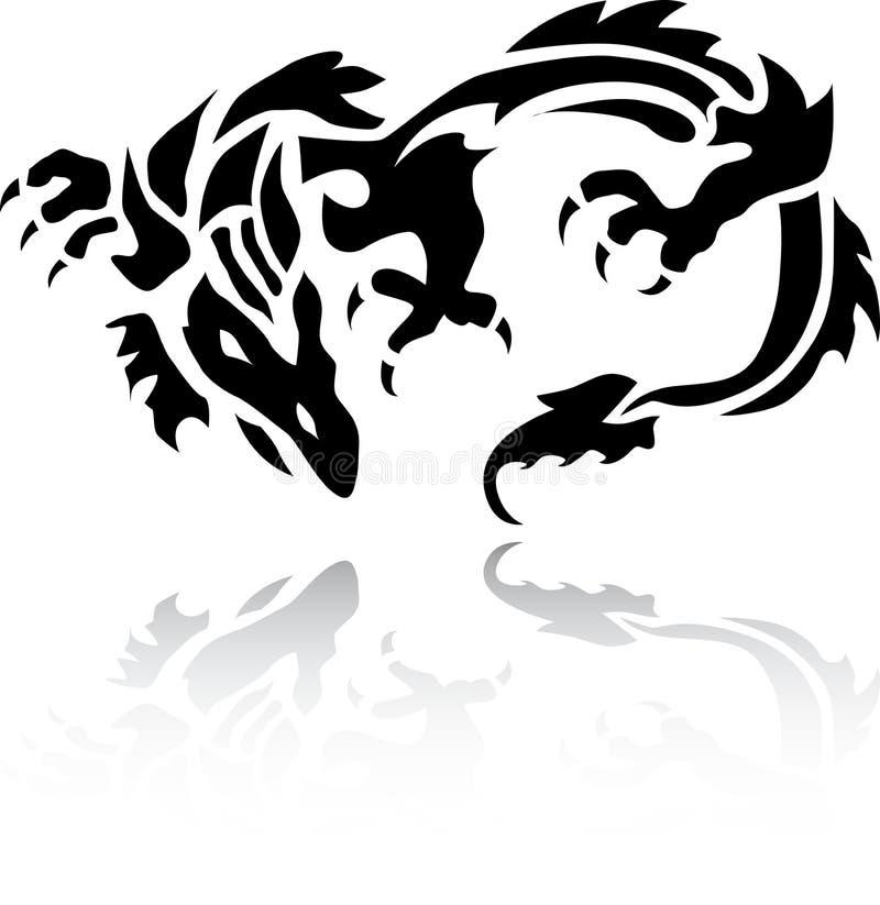 tatuaż wonderfull smoka. ilustracji