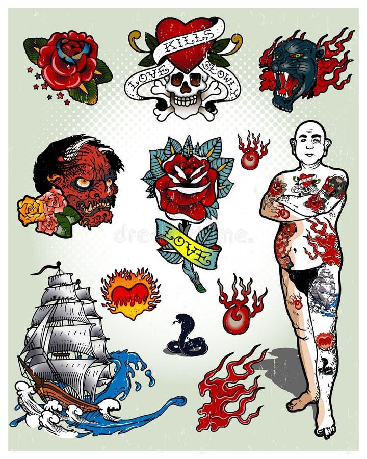 tatuaże royalty ilustracja