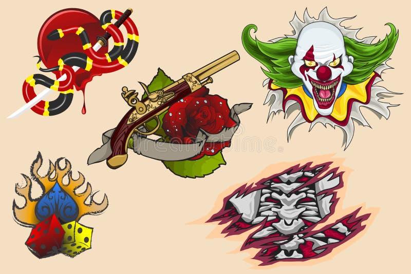 Tatuażu projekt royalty ilustracja