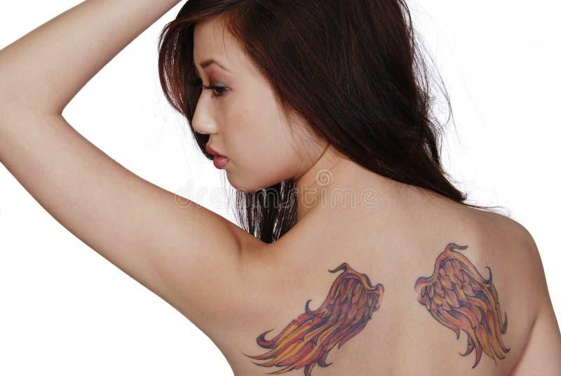 tatuażu skrzydła. zdjęcie stock