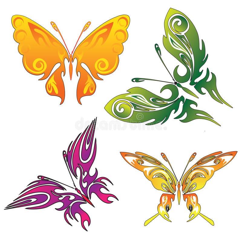 Tatuaży motyle ilustracji