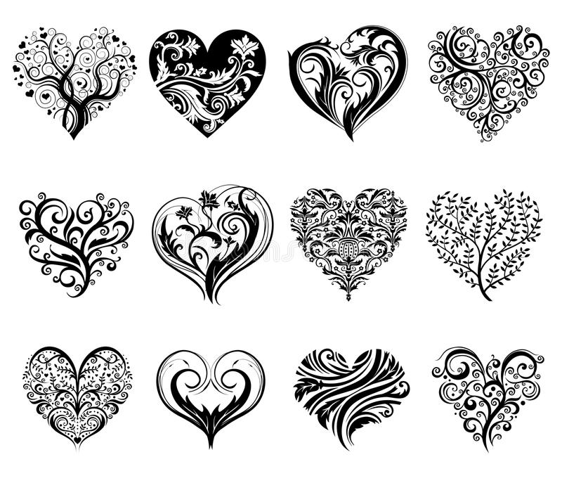 Tatuaży serca royalty ilustracja