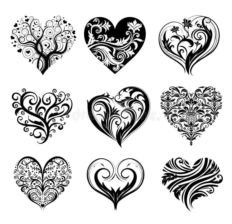 Tatuaży serca ilustracji