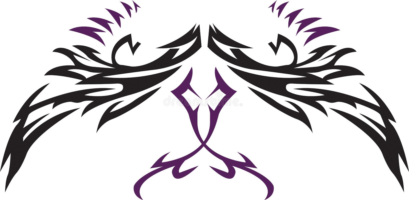 tatuaży skrzydła ilustracja wektor