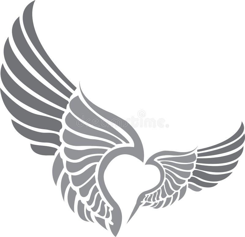 tatuaży skrzydła royalty ilustracja