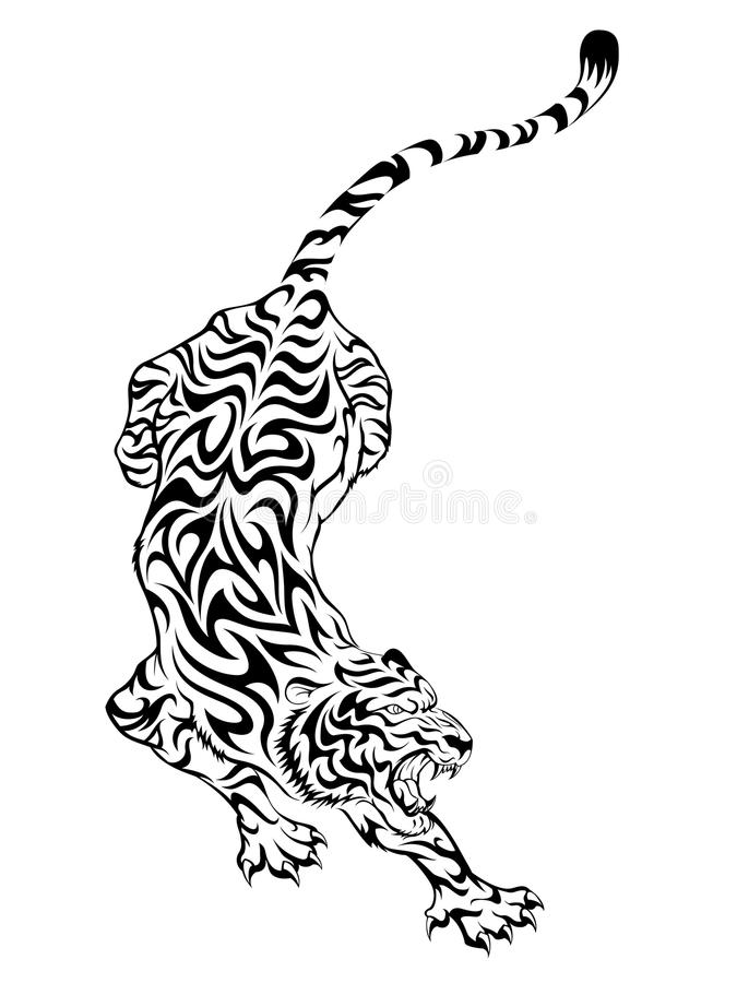 Tatuagem 3 do tigre ilustração stock