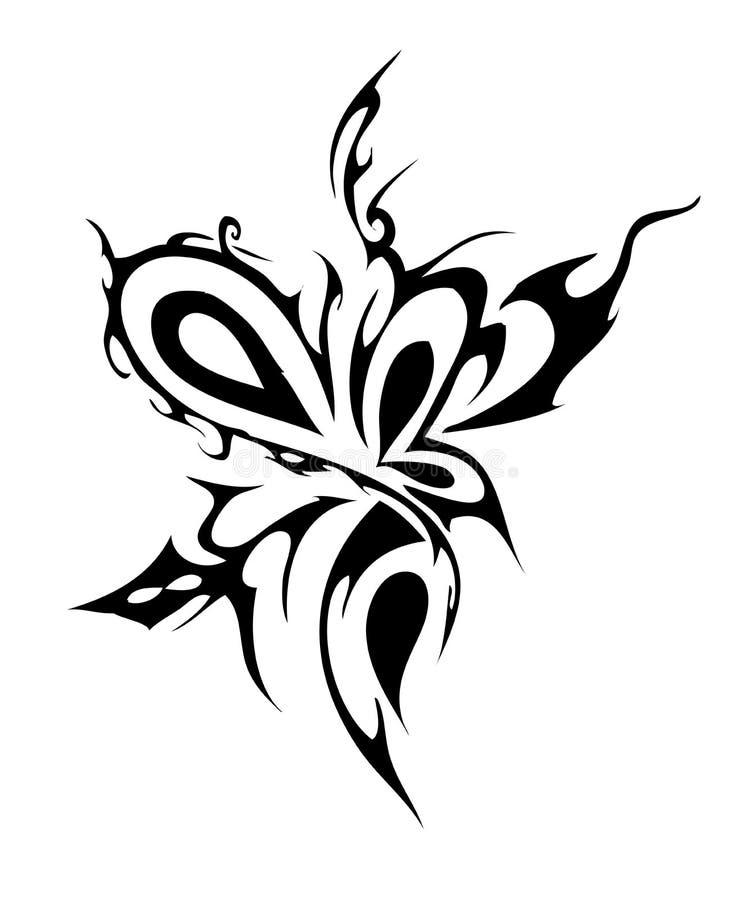 Tatuagem abstrato ilustração stock
