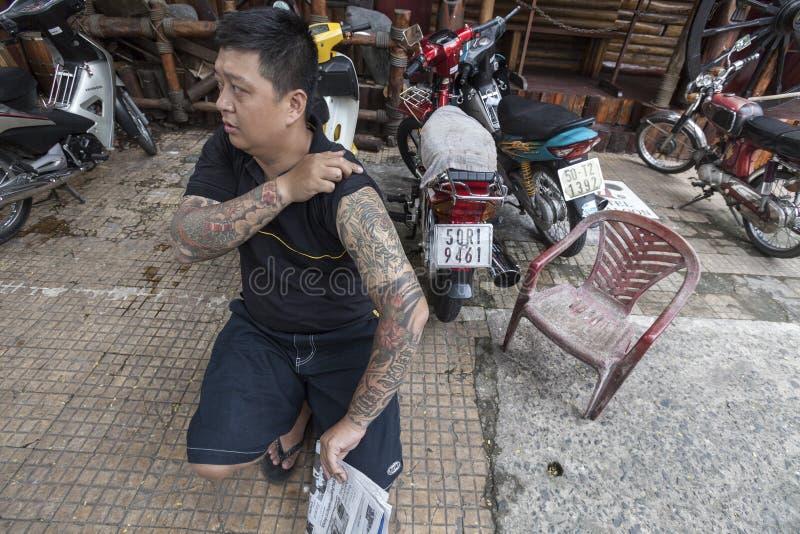 Tatuagem asiática tradicional fotografia de stock