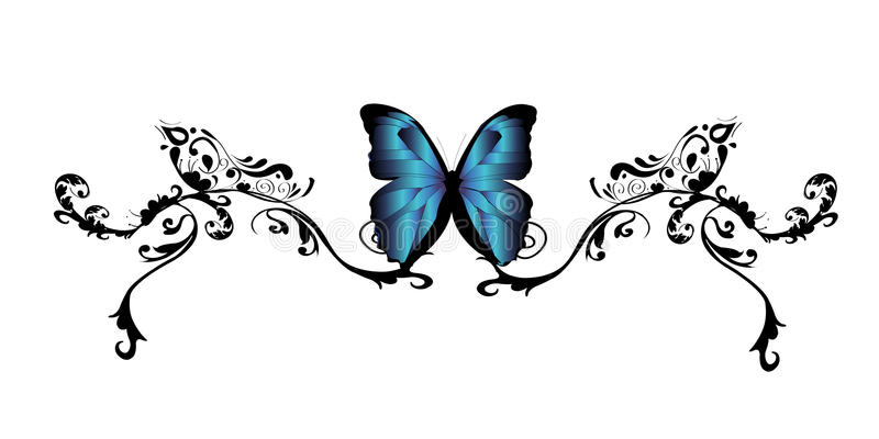Tatuagem da borboleta ilustração royalty free
