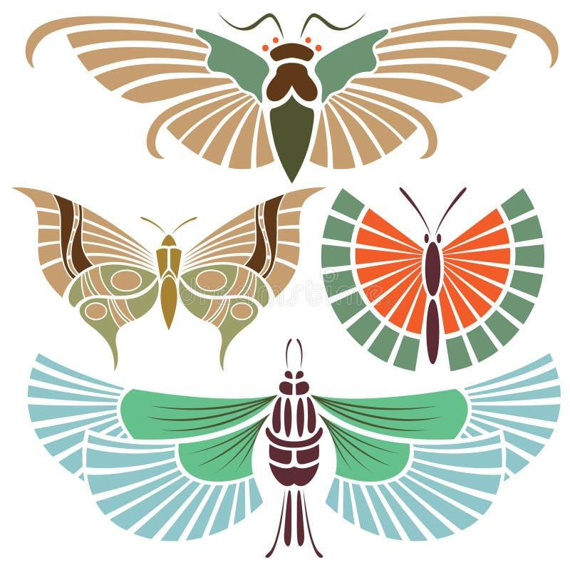 Tatuagem da borboleta ilustração stock