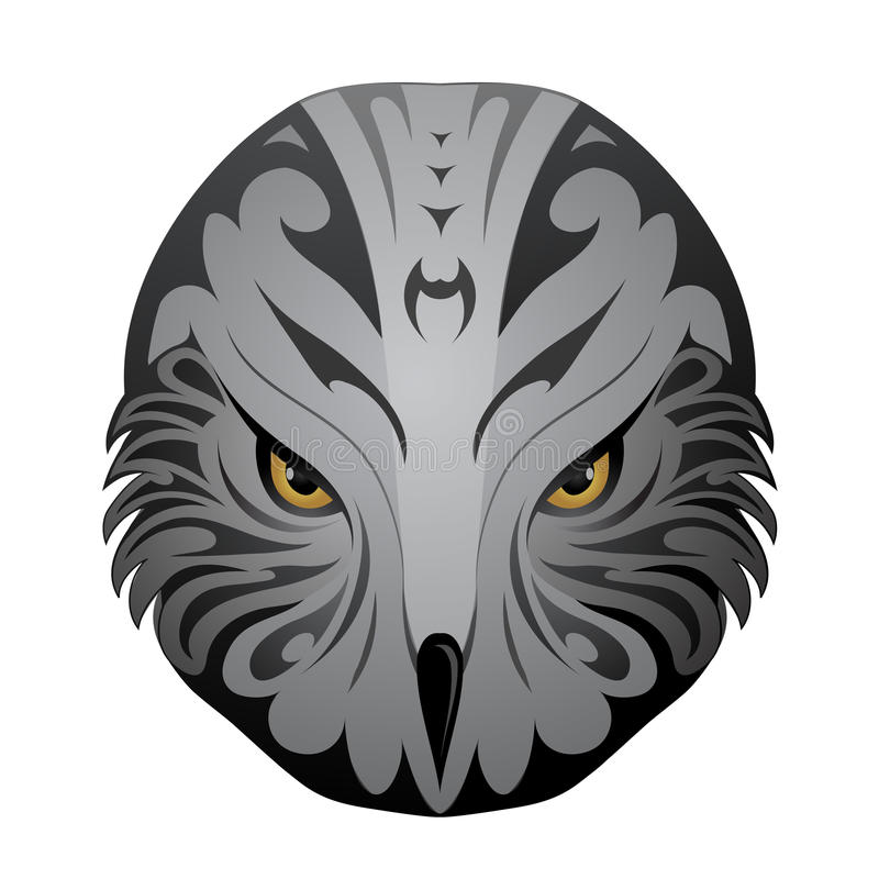 Tatuagem da cabeça de Eagle ilustração royalty free