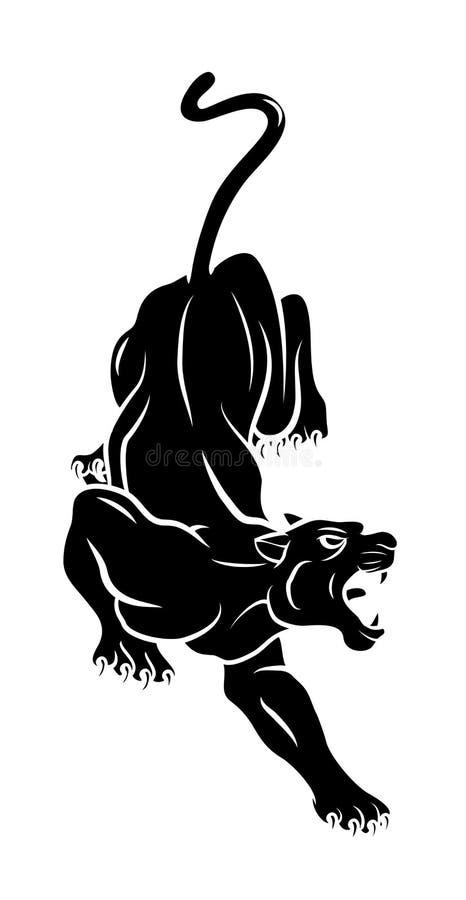 Tatuagem da pantera ilustração do vetor