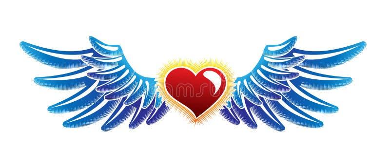 Tatuagem das asas ilustração stock