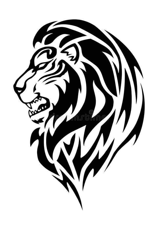 Tatuagem de Lion Head ilustração stock