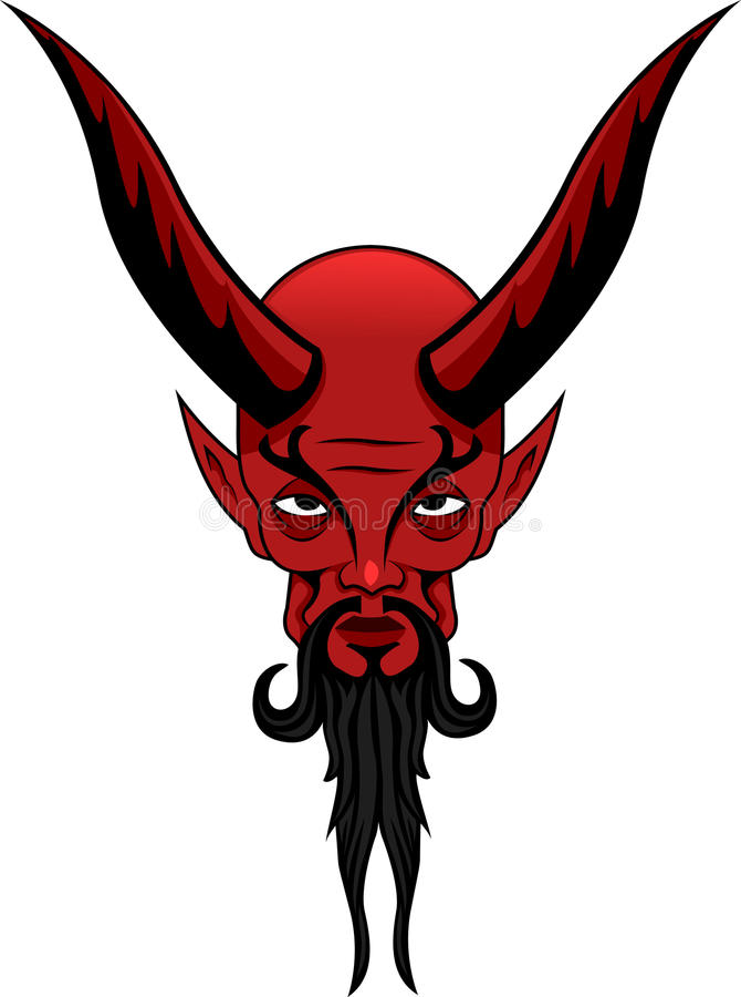 Tatuagem de Satã fotografia de stock