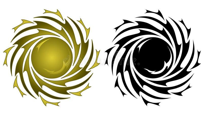 Tatuagem de Sun ilustração stock