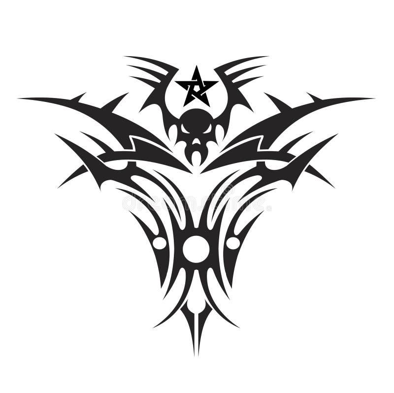 Tatuagem de um crânio ilustração royalty free