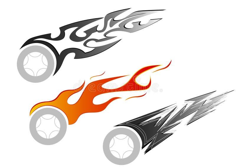 Tatuagem do carro ilustração stock