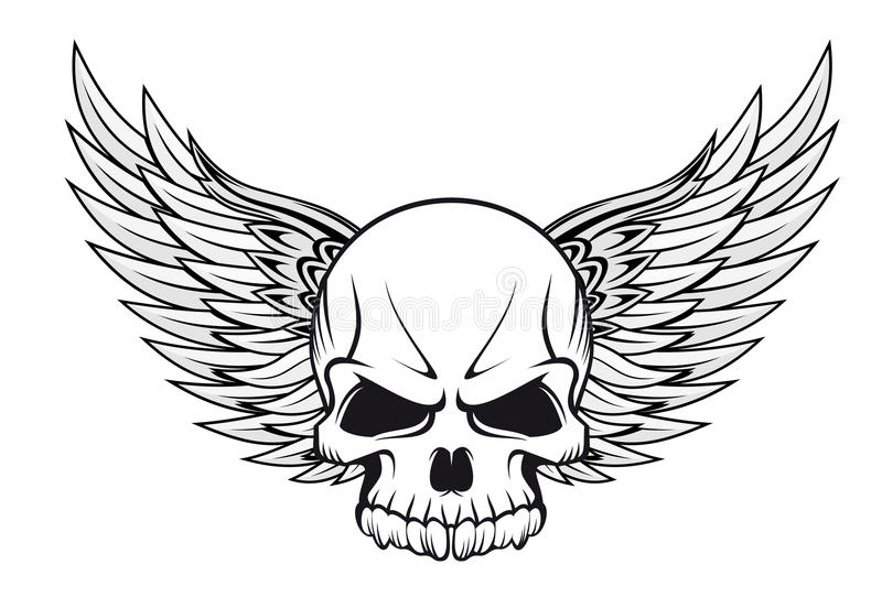 Tatuagem do crânio ilustração stock