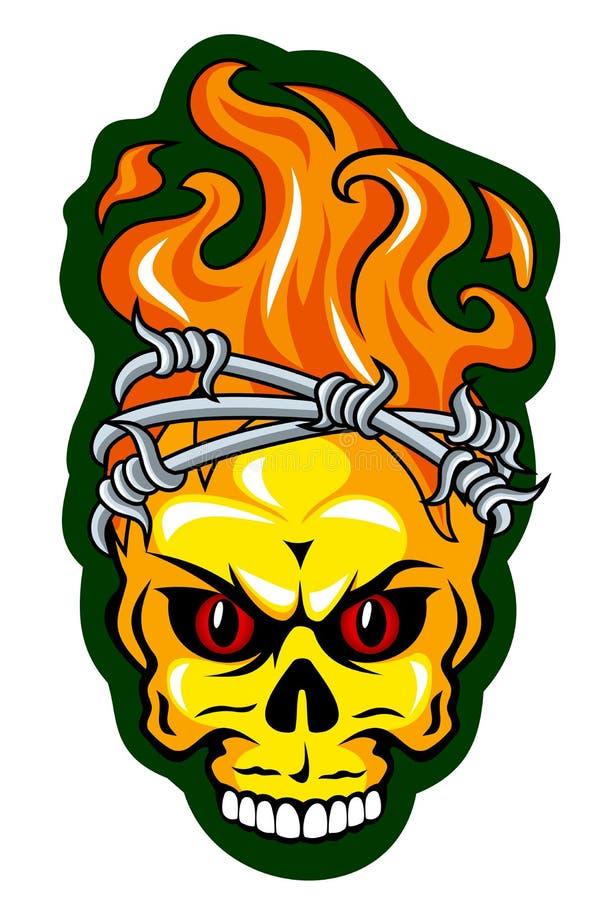 Tatuagem do crânio ilustração do vetor