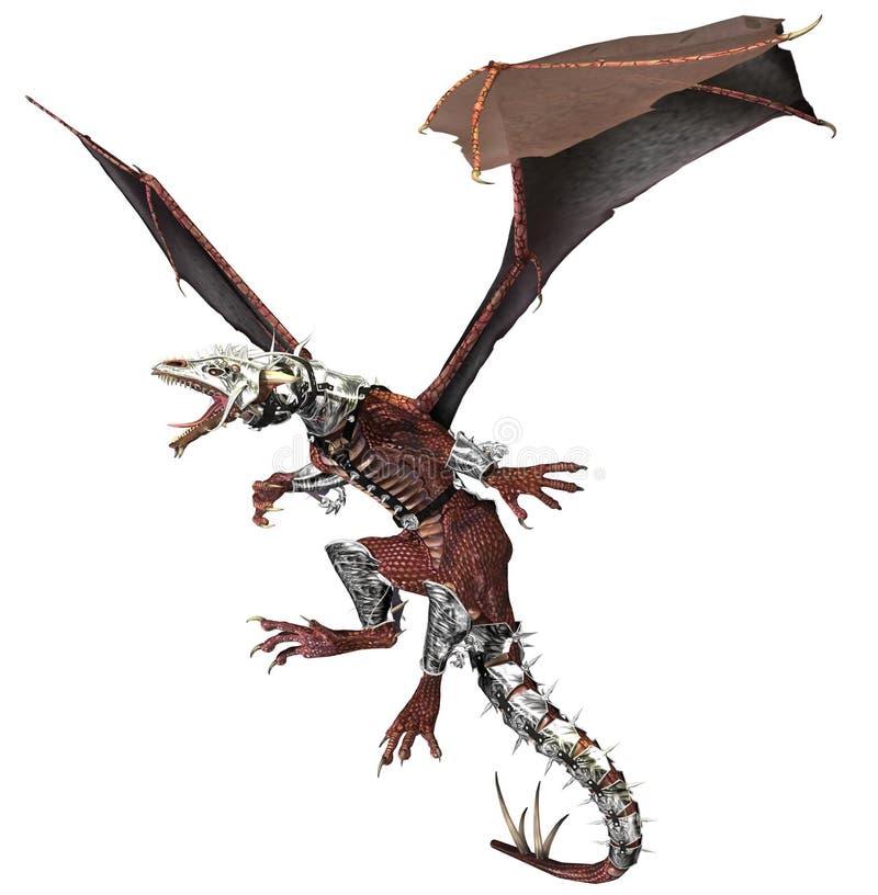 Tatuagem do dragão da armadura ilustração do vetor