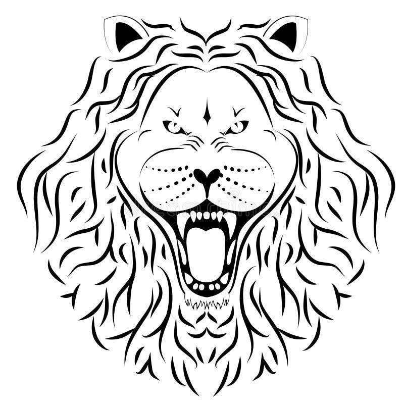 Tatuagem Do Leão Imagens de Stock