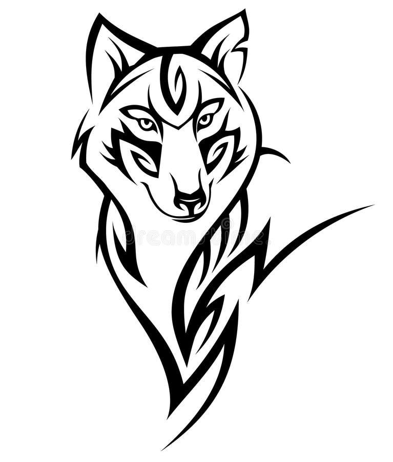 Tatuagem do lobo ilustração royalty free
