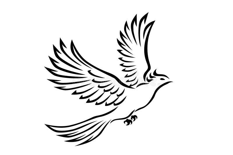Tatuagem do pássaro foto de stock royalty free
