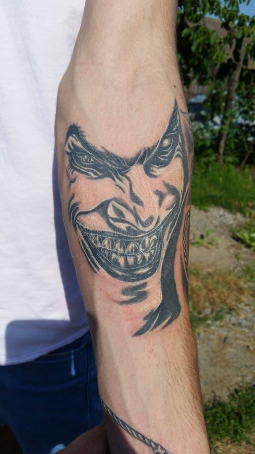 Tatuagem do palhaço imagens de stock