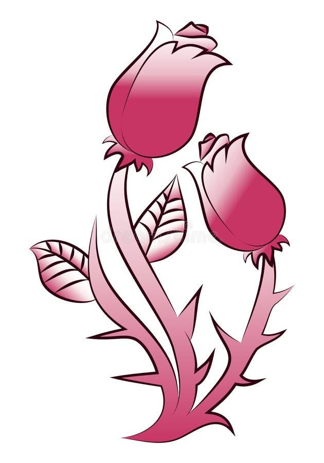 Tatuagem do ponto de Rosa ilustração do vetor