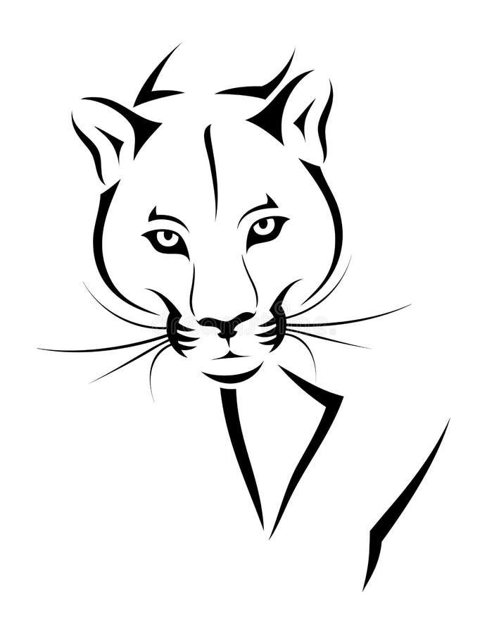 Tatuagem do puma ilustração stock