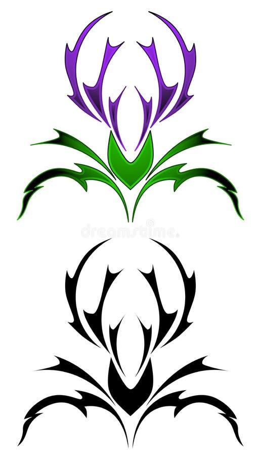 Tatuagem do Thistle ilustração royalty free