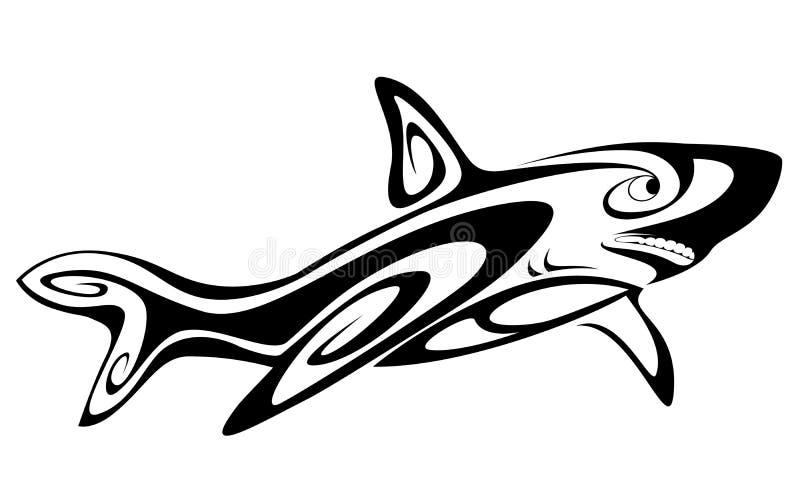 Tatuagem do tubarão ilustração do vetor