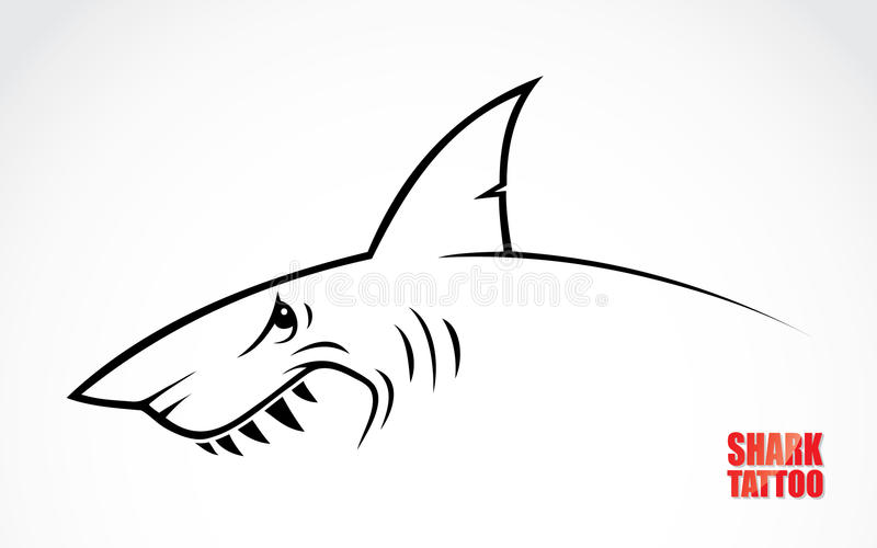 Tatuagem do tubarão ilustração royalty free