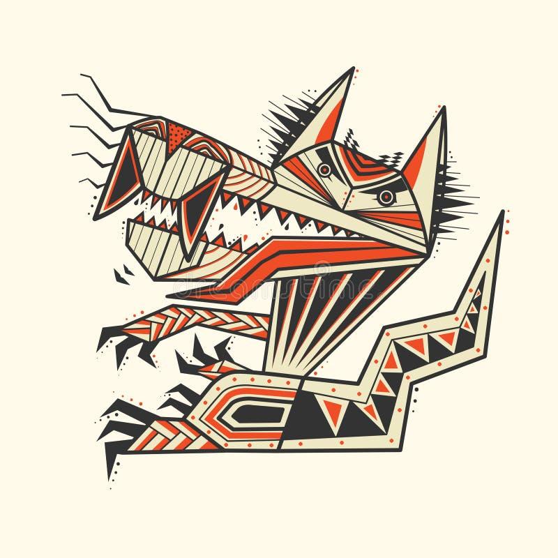 A tatuagem do zentangle do cão imagens de stock
