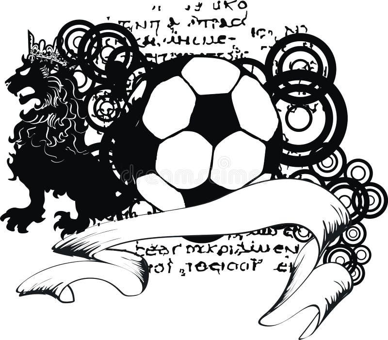 Tatuagem heráldica da brasão do emblema da crista do futebol ilustração stock