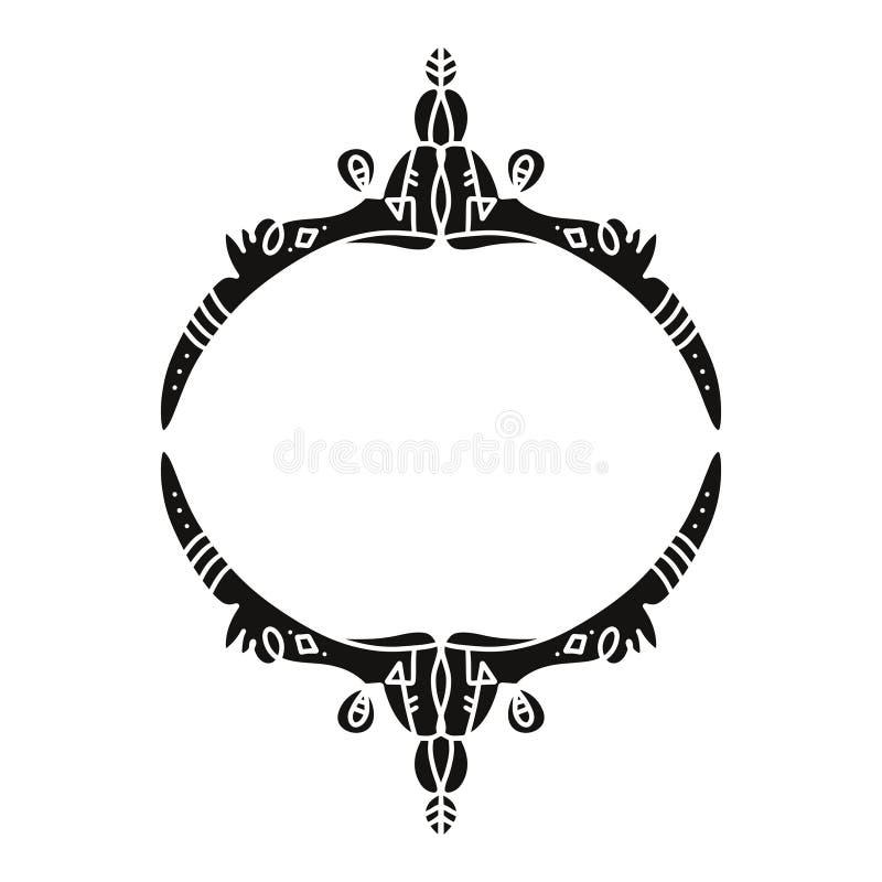 Tatuagem instantânea do teste padrão Elementos ornamentado do projeto Ornamento da forma Projeto indiano ilustração do vetor