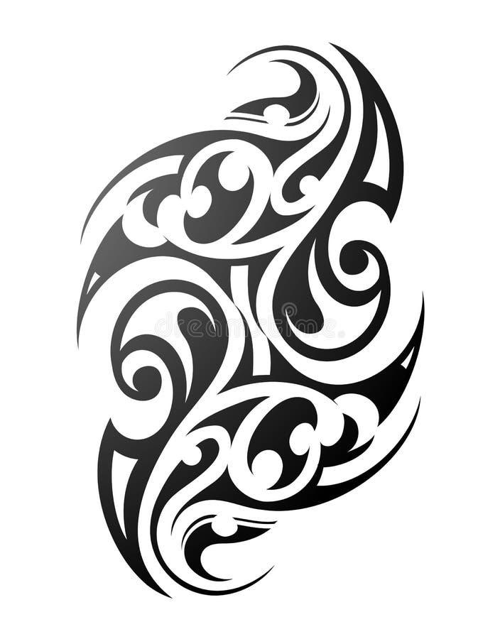 Tatuagem maori ilustração do vetor