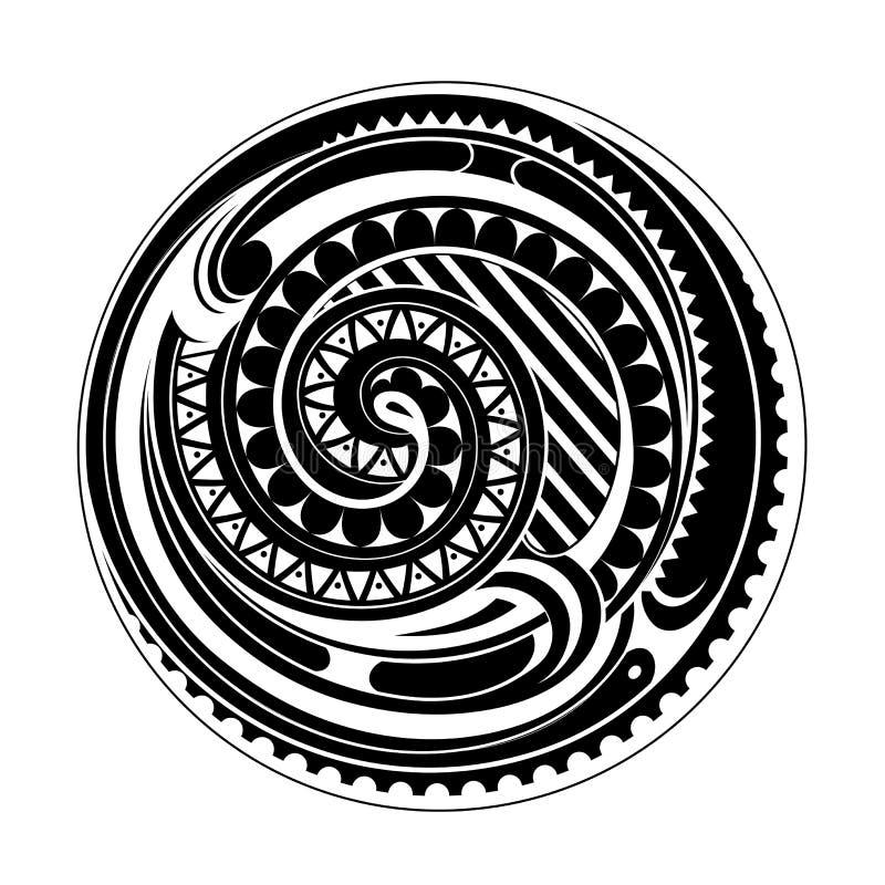 Tatuagem maori do círculo ilustração royalty free
