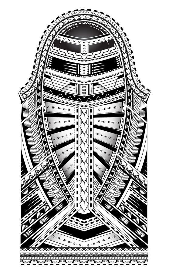 Tatuagem polinésia da luva do estilo ilustração do vetor