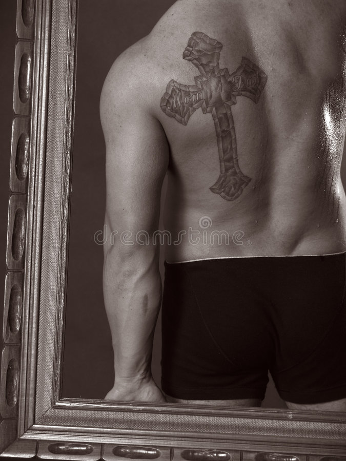 Tatuagem transversal foto de stock