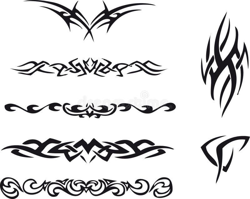 Tatuagem tribal ilustração do vetor