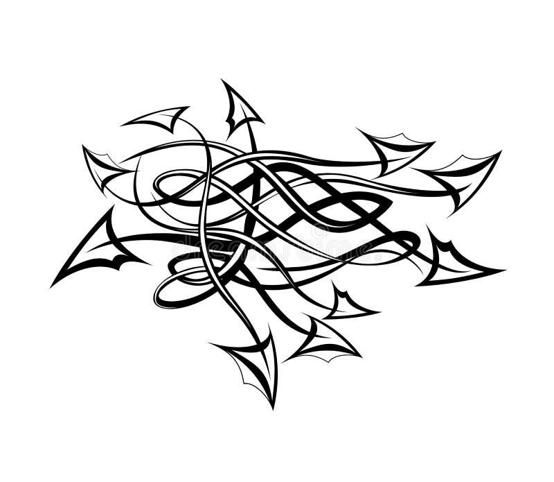 Tatuagem tribal com setas. ilustração royalty free
