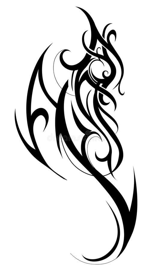 Tatuagem tribal da arte ilustração do vetor